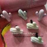 Ambientador de aire de cerámica Shaped coloreado lindo del respiradero del coche del cacto (AM-148)