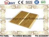 Painel de madeira da laminação do PVC da cor para a parede e o teto plásticos, Cielo Raso De PVC