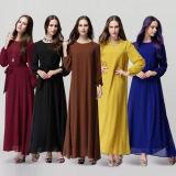 Добавочные женщины полнометражное шифоновое мусульманское Abayas размера (A543)