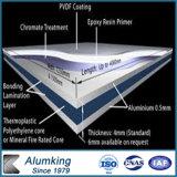 Панель крытого алюминиевого фасада сандвича панели внешняя алюминиевая составная