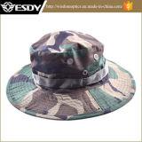 広い縁の日曜日キャンプハンチング帽子が付いている軍のCamoの漁師の帽子