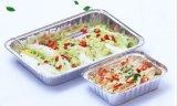 Takeout Wannen - Wegwerfaluminiumfolie-Backen-Zinn, ideal für Gebrauch in der Gefriermaschine, im Ofen und in der Dampf-Tabelle. Feder