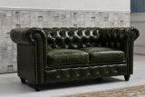 Sofá de couro retro da mobília da sala de visitas