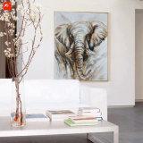 Décoration à la main à la main Peinture en toile d'éléphant
