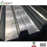 Tôle d'acier galvanisée par feuille superbe de Decking d'étage en acier