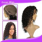 Vario color al por mayor peluca llena india del cordón del pelo humano de Remy de 18 pulgadas