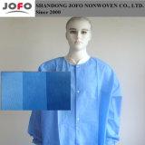 Tessuto non tessuto blu-chiaro di SMS per il vestito di protezione