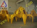Gancho agarrador hidráulico mecánico de la cáscara anaranjada de la arena