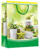 Bolso de papel barato hecho a mano de la Navidad de las ventas al por mayor de la manera del diseño del día de fiesta