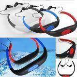 8GB делают шлемофон водостотьким mp3 плэйер FM спортов Radio для подныривания заплывания занимаясь серфингом