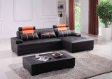 Sofà moderno del cuoio della mobilia con sezionale per l'insieme del sofà del salone