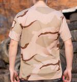T-shirt 100% réactif d'impression de coton Camo extérieur