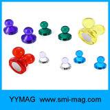 Thumbtack 자석 제도용 핀 투명한 핀 자석 (무작위 색깔)