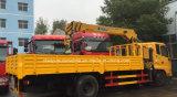 Heißer Verkauf 4*2 LHD Rhd 6 Tonnen Kran-Laden-LKW-hing mit Kran ein