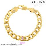Un braccialetto dei 70736 di modo uomini dei monili placcato oro freddo 24k in lega del metallo