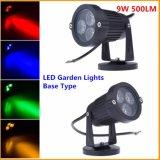 luz accionada solar del punto del jardín LED de 3W 5W IP67