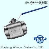 l'acier inoxydable du carbone 3PC à haute pression a modifié le robinet à tournant sphérique