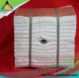 Alto módulo aislador termal de la fibra de cerámica del circonio 1400 con el ancla