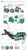 Pneumatico residuo semiautomatico che ricicla riga