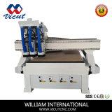Gravura de trabalho do CNC da máquina da auto madeira do CNC da mudança do eixo (VCT-1530ASC3)