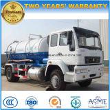 4X2 HOWO 10 CBMの下水の吸引10m3の真空タンクトラック