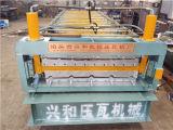 Máquina da fábrica de aço da cor da telha e da parede de telhado da camada dobro
