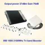 Aumentador de presión 1800 Lte 3G 2100MHz de CDMA 850MHz, repetidor de la señal de la red del suplemento GSM900MHz de la señal del teléfono celular del amplificador de la señal de DCS de la señal del G/M