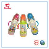 Большие бутылки молока младенца PP размера с симпатичной животной крышкой