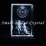 El laser del cristal 3D grabó al agua fuerte a géminis