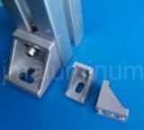 Met een laag bedekt het Poeder van de Kleur van het aluminium dat voor de Steun van de Hoek van het Aluminium van de Groef van het Profiel T van het Aluminium wordt gebruikt