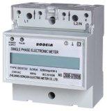 Medidor da energia do medidor do Watt-Hour do Ruído-Trilho da fase monofásica (DDS722)
