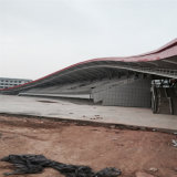 Il tetto d'acciaio del blocco per grafici del fascio mette in mostra le costruzioni con l'ampia luce
