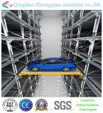 Levantamento hidráulico e tipo movente elevador do estacionamento do carro