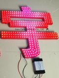 LED Pxiel 가벼운 LED에 의하여 드러내는 빛난 편지를 광고하는 15mm/Red