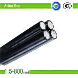 câble empaqueté aérien d'ABC de câble de faisceau de 0.6/1kv Aluminiun