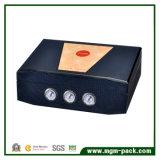Горячая штемпелюя Handmade деревянная коробка сигары с увлажнителем