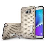 Оптовая Чистая Прочный противоударный Kickstand сотовый телефон чехол для Samsung Galaxy Примечание 5 S6 Plus Край