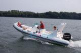Liya 22ft de Glasvezel die van China de Boot van de Rib voor Visserij vouwen