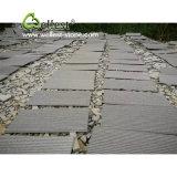 Basalto Grooved della pietra nera della lava del Hainan per la parete/mattonelle del pavimento