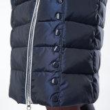 サイズの冬のコートの女性の贅沢のジャケットの女性の大きい毛皮のフードの非対称的なジッパーのParkasの雪のジャケットと2017人の冬のジャケットの女性