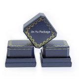 Rectángulo de empaquetado de la joyería hecha a mano del regalo del Ocho-Cuadrado del azul de marina para el anillo