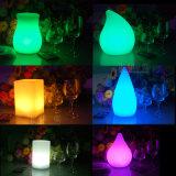 Colof multi moderno que cambia las lámparas plásticas de la boda del dormitorio de la iluminación del LED