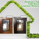 Ventana de madera perfecta sin necesidad de mantenimiento del marco del efecto, ventana de aluminio revestida de madera del marco de la teca de la alta calidad