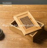 Caixa de madeira personalizada do projeto novo elegante para a jóia Storaging