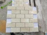 Impiallacciatura di pietra di marmo sottile di marmo bianca del mattonella di Carrera/