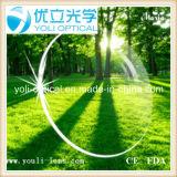 1.60 Asp Verde Revestimiento UV400 Hmc lente óptica con EMI