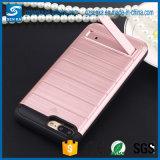 Cubierta de oro accesoria móvil de la caja del teléfono de la alta calidad del rectángulo con el soporte para LG V10
