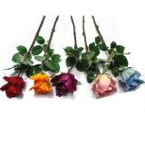 Цветки Роза домашнего Рук-Ощупывания PU украшения искусственние