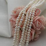 丸型の淡水の真珠のビードを離れて自然な小型の3mm