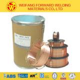 producto sólido de la soldadura del alambre de la soldadura del alambre de soldadura de 0.8m m Aws Er70s-6 con la protección del gas del CO2